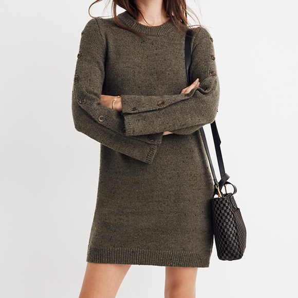 NWOT *Madewell Donegal Button-Sleeve Sweater. XL